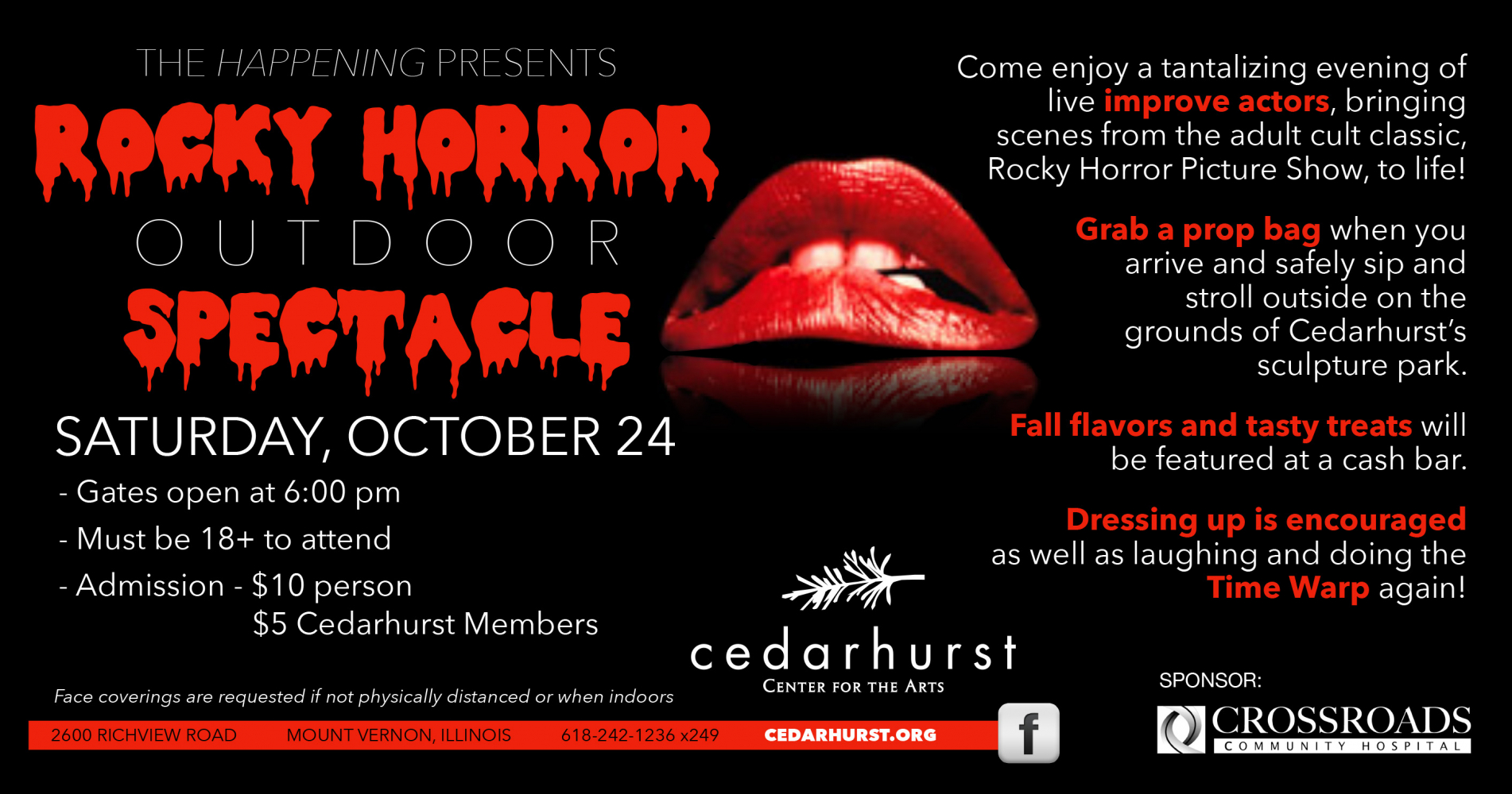 The Happening at Cedarhurst Presents Rocky Horror Outdoor Spectacle